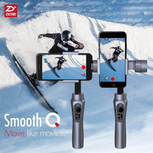 zhiyun smooth-q 3 axis gimbal con tripode y extension stick