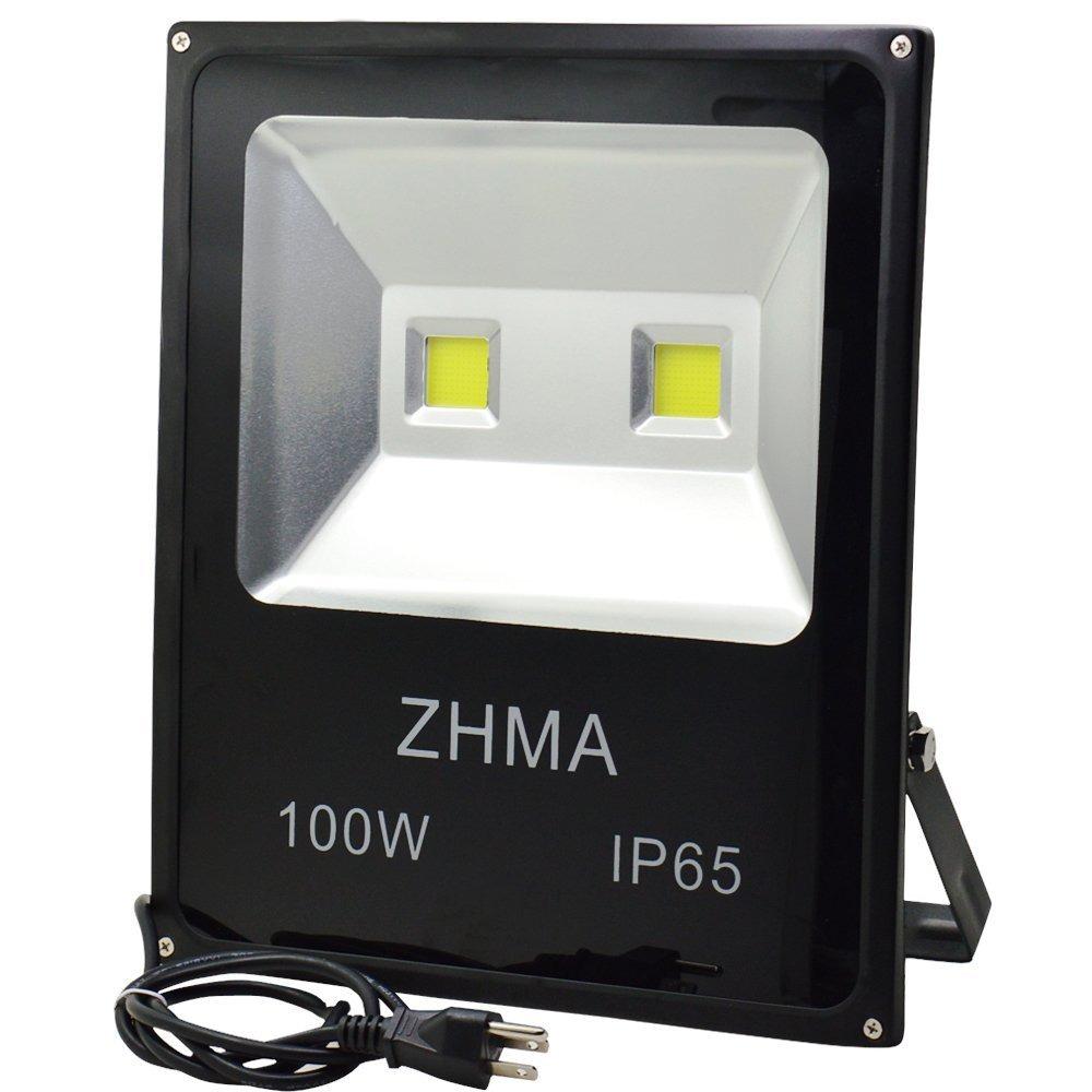 Zhma 100w led flood lights outdoor indoor light with 2x50 outdoor indoor light with 2x50 cargando zoom aloadofball Images