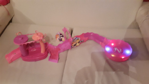 zhu zhu pets pista rosa con luces