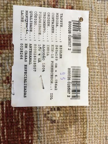 ziegler indiano 240x169cm zigler artesanal persa 2.4x1.7m