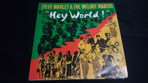ziggy marley & the melodies makers  hey world lp reggae