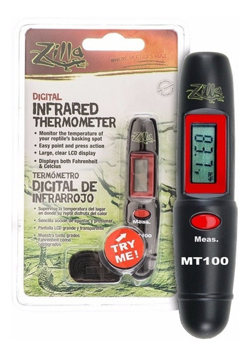 zilla termómetro con infrarrojo, grados farenheit y centigra