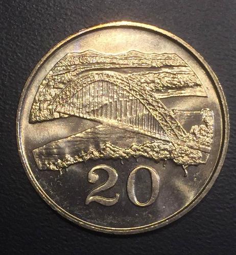 zim007 moneda zimbawe 20 cents 1983 unc-bu ayff