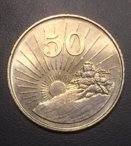 zim010 moneda zimbawe 50 cents 1980 unc-bu ayff