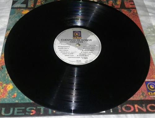 zimbawe cuestión de honor lp vinyl rare 1995 rock en español