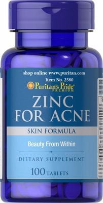 zinc acne piel grasa alta potencia testosterona 100tab