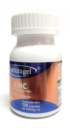 zinc naturagel 100 cap envio full