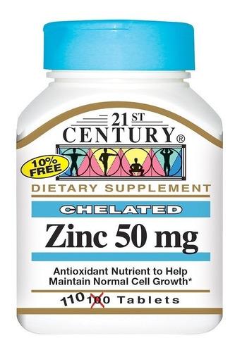 zinco quelado - 50 mg - 21 century- 110 comprimidos - oferta