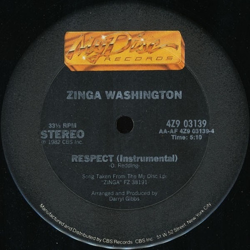 zinga washington   12 single   respect