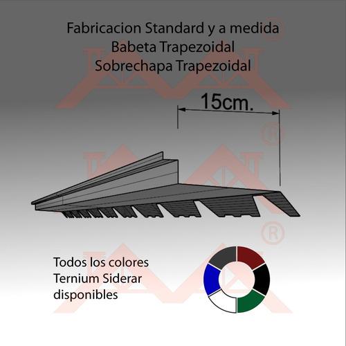 zingueria babeta trapezoidal 2.42mt color a eleccion. envios