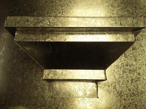 zingueria caño desague 2 x 4 y 10 x 5 rectangular. x metro.