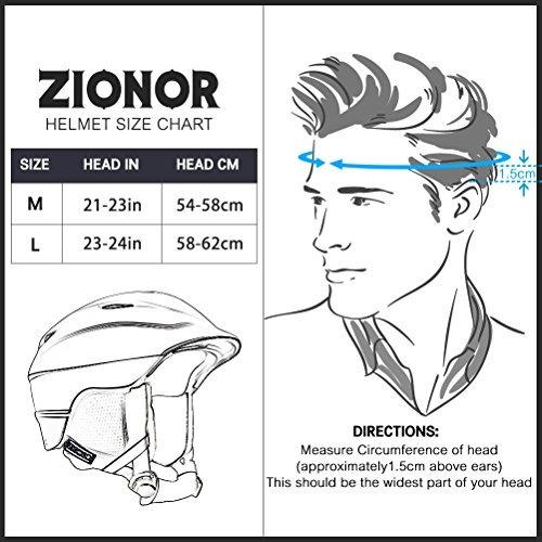 zionor h2 ski snowboard casco certificado calidad para