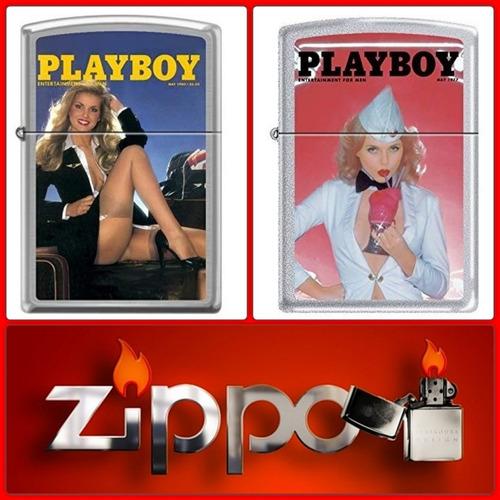 zippo fosforera edicion playboy original en caja