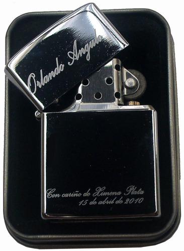 zippo original grabado marcado logo nombre escudo personaliz