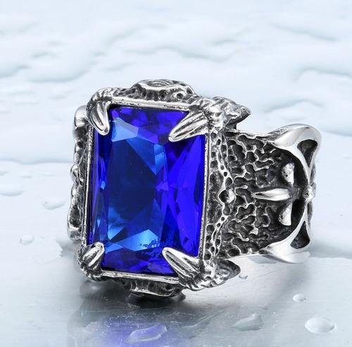 zirconia acero anillo