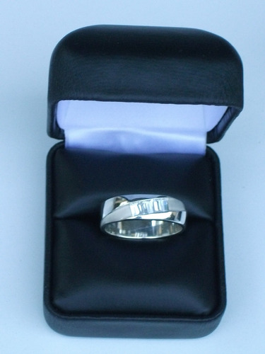 zirconia plata anillo con