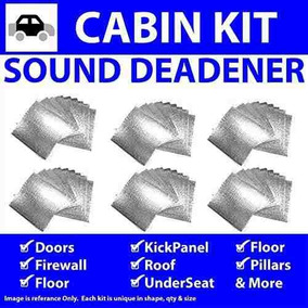 Hushmat 625611 Sound and Thermal Insulation Kit 1961-1964 Chevy B Body Floor