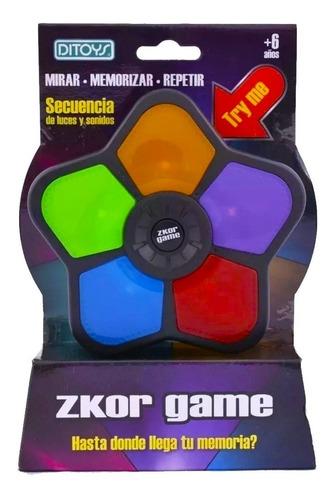 zkor game clasico juego de memoria tipo simon ditoys promo