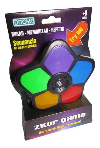 zkor game clasico juego de memoria tipo simon  orig ditoys