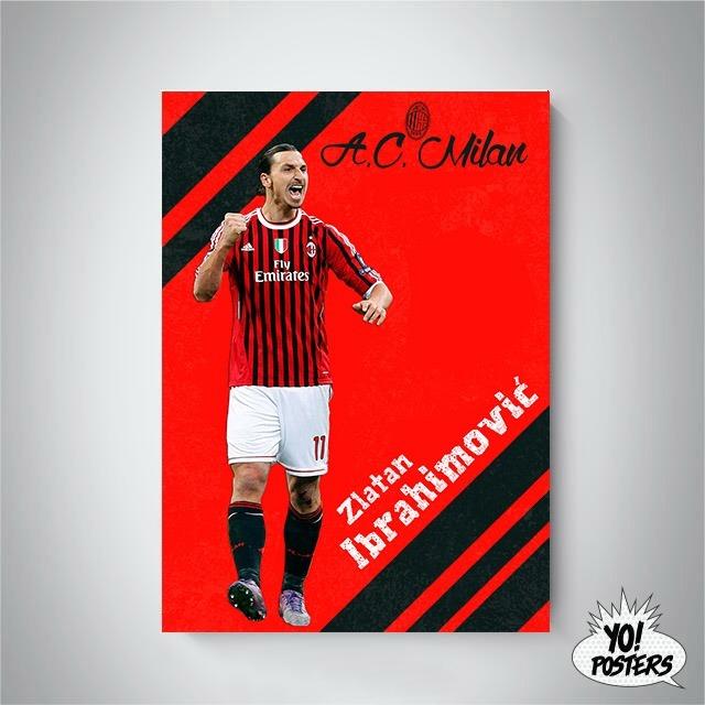 low priced 9300a fb44a Zlatan Ibrahimovic Barcelona Psg Milan Ibra Placa42x30cm