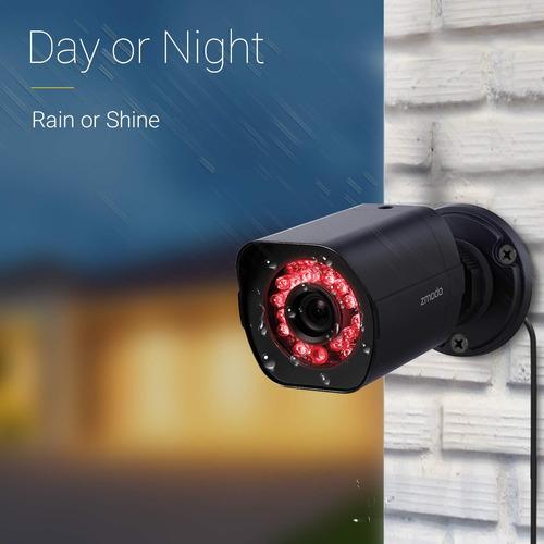 zmodo 4 canales hdmi nvr 4x720p hd cámara de seguridad smart