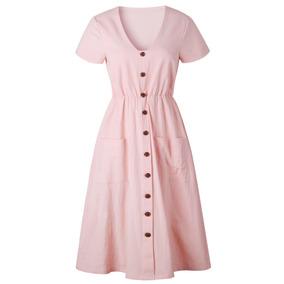 6eb9cb186 Faldas Largas Juveniles - Vestidos de Mujer Corto Rosa claro en ...
