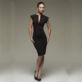 8dde4dcd0e Vestido Elegantes - Vestidos de Mujer Casual Largo Negro en Mercado Libre  México