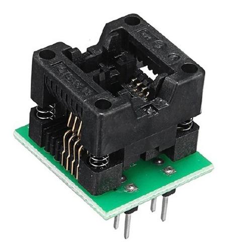 zocalo adaptador smd soic8 dip8 150mil eeprom grabador ch341