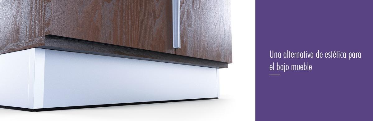 Zocalo De Aluminio 100mm Para Muebles De Cocina Grupo Euro