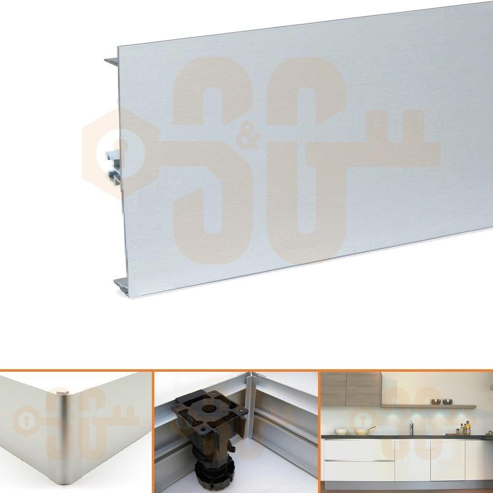 Zocalo De Aluminio Mueble De Cocina 15 Cm X 2 Metros 2 050 00