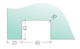 zócalo freno caja piso con vuelo blindex bronce herraje d01