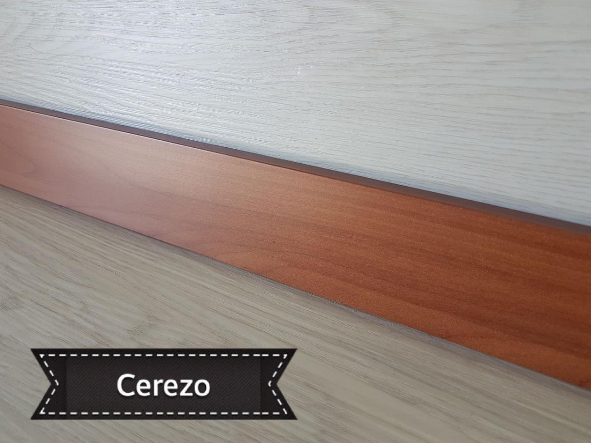 Zocalo Madera Mdf Foliado Oferta En Color Cerezo 6cm 10000 En