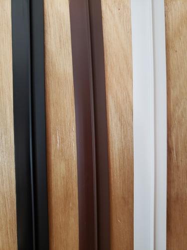 zocalo para puertas rigido aleta flexible blanco-negro