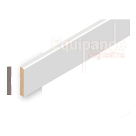 Zocalo Prepintado Blanco Mdf 15 X 95 X 2750 Mm Valor X Ml