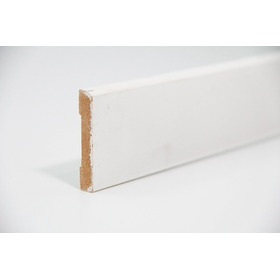 Zocalo Prepintado Blanco Mdf 9 X 56 X 2750 Mm Liso Val X Ml
