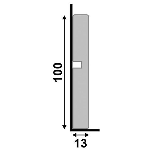 zocalo sustentable blanco alto 10 cm poliestireno prepintado