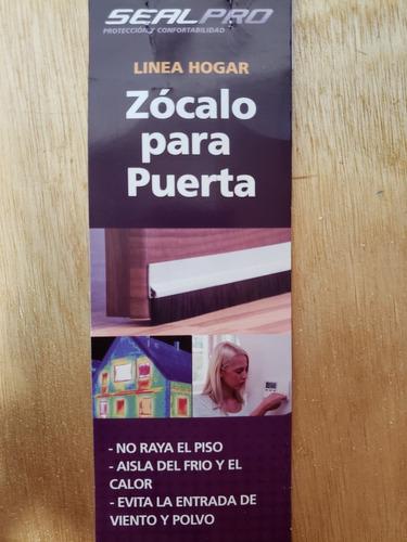 zocalos para puertas cepillo flex adhesivo negro-marron