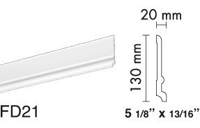 zoclo prefabricado blanco listo p/pintarse 0 mantenimiento