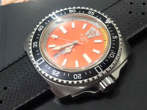 zodiac sea dragon zo2303 diver quartz swiss made