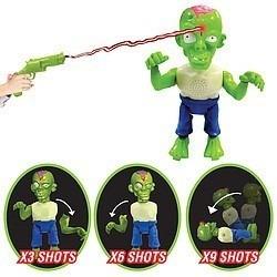 zombie blast muñeco con arma de disparo  en  en smile