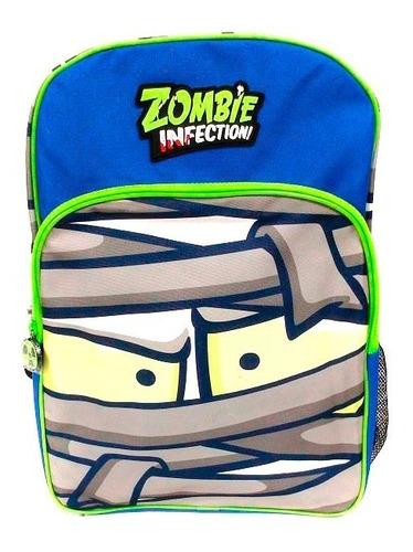 zombie infection mochila escolar 17 azul y verde b17-e