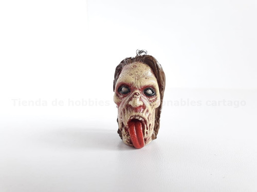 zombie the walking dead llavero en plastico