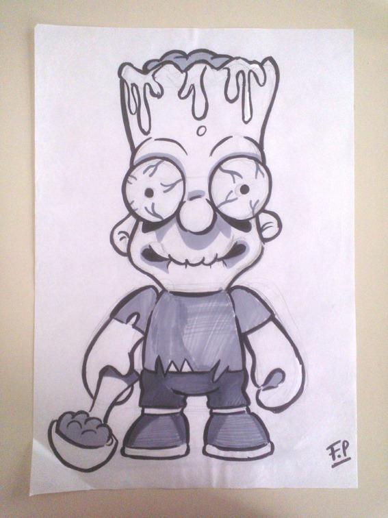 Zombies Bart Simpson Halloween Dibujos 55000 En Mercado Libre