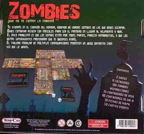 Zombies Zombie Ninos Juego Mesa Original Toyco Microcentro 534