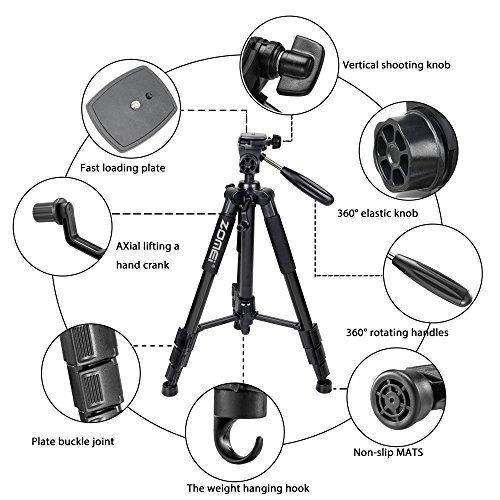 zomei 55 -inchtrípode de cámara slr plegable portátil de
