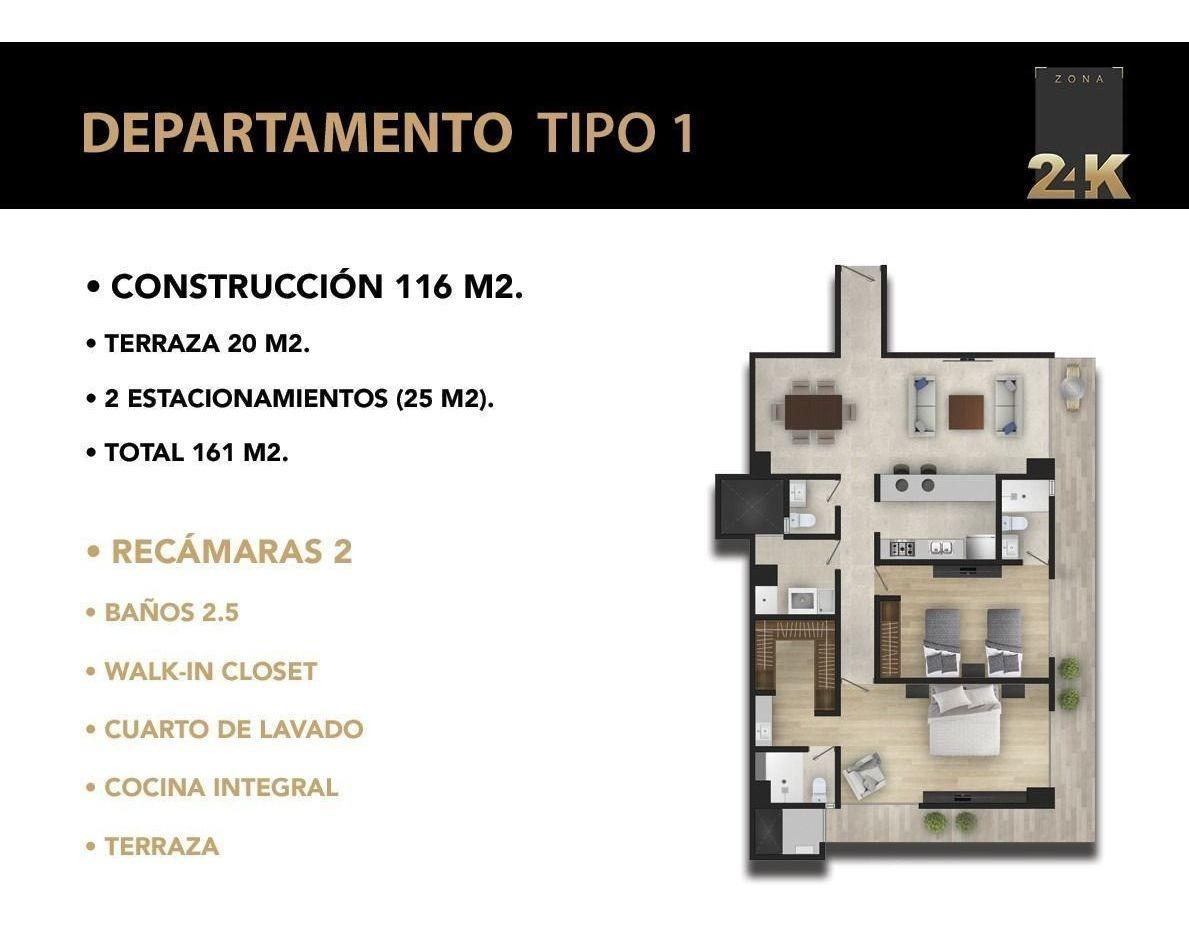 zona 24k: departamentos en venta pedregal | tipo 1
