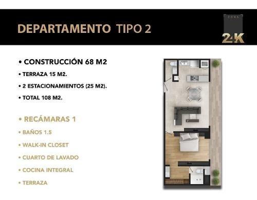 zona 24k: departamentos en venta pedregal   tipo 2