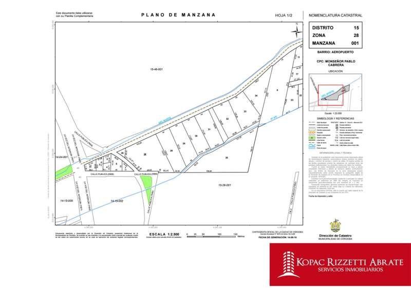 zona aeropuerto - alquiler terrenos 6 has.