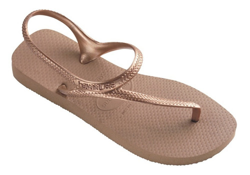 zonazero havaianas ojotas flash urban rose gold mujer