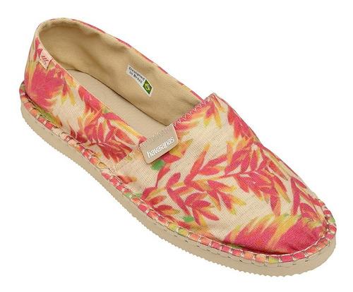 zonazero zapatilla havaianas bromelia crema rojo mujer